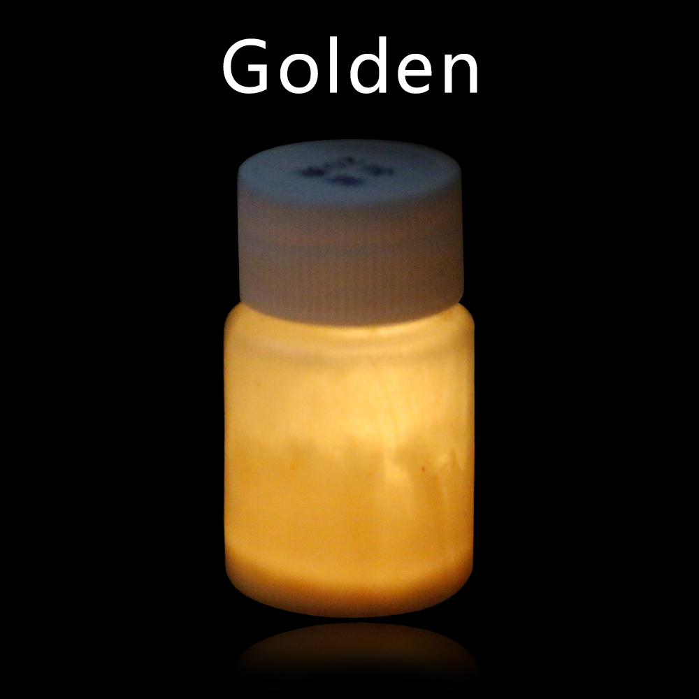 20g Gold Luminous Paint Glow In The Dark Fluorescent Paint For Party Nail Christmas Decoration Phosphor Paint Acrylic Pain