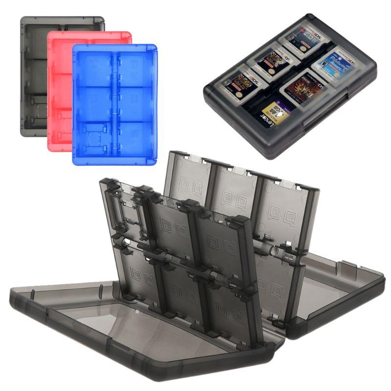 24 in 1 Spiel Karten Patrone Halter Storage Box Organizer Stoßfest Shell Tragbare Kompatibel für Schalter 3/2DS/DS Lite/DSL