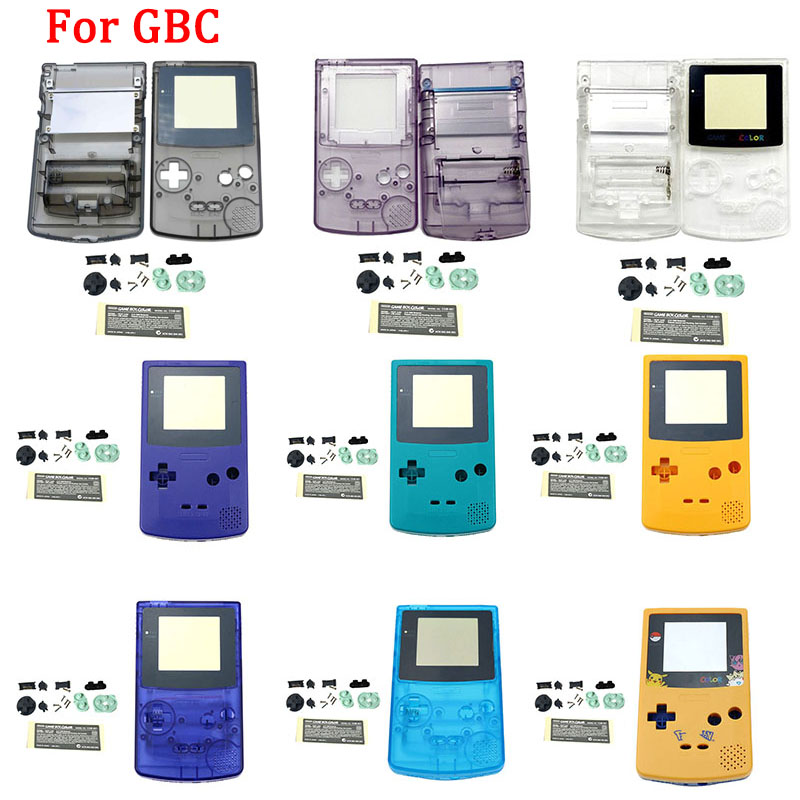 New Original Game Console Shell Case for Gameboy Color Light Classic Game Console Shell Case for GBC Housing Shell with buttons