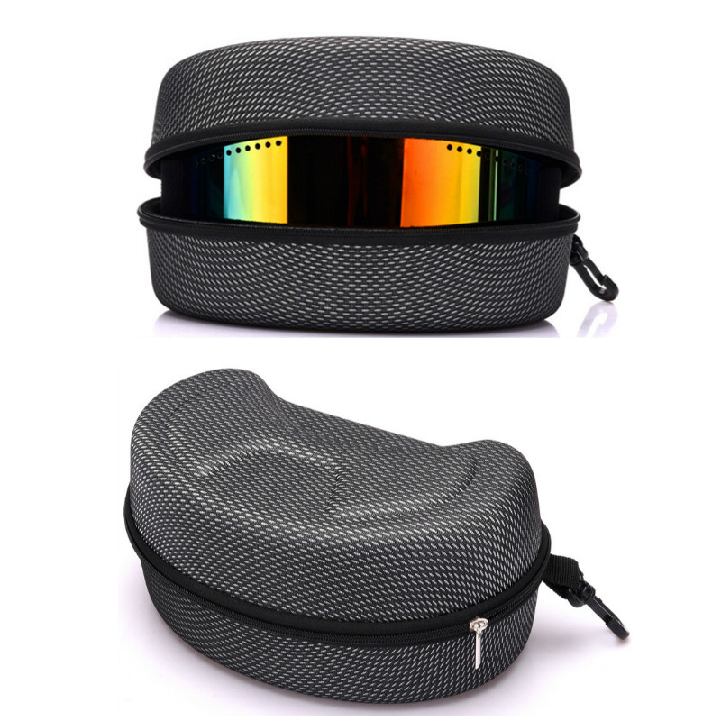Ski Glasses Protection Box Heightening Widening Scratchproof Storage Case Winter Ski Accessories (Without Goggles)