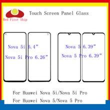 10 unids/lote pantalla táctil para Huawei Nova 5 5i Pro Touch Panel frontal de Lentes de vidrio exterior de la pantalla táctil NO LCD para nova 5 LCD de cristal