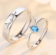 Fashion Creative Silver Elk Ring Jewelry Cute Style Deer Rings Best Gift for Christmas(China)
