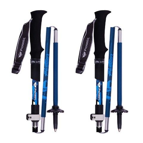 2 pcs ultraleve fibra de carbono 5 secoes cane lock haste dobravel ajustavel viagem caminhada