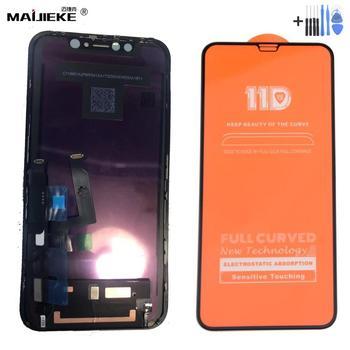 """Montaje de pantalla LCD Original para iPhone XR 6,1 """"pantalla LCD de vidrio templado para iPhone 11 digitalizador de pantalla táctil + herramientas"""