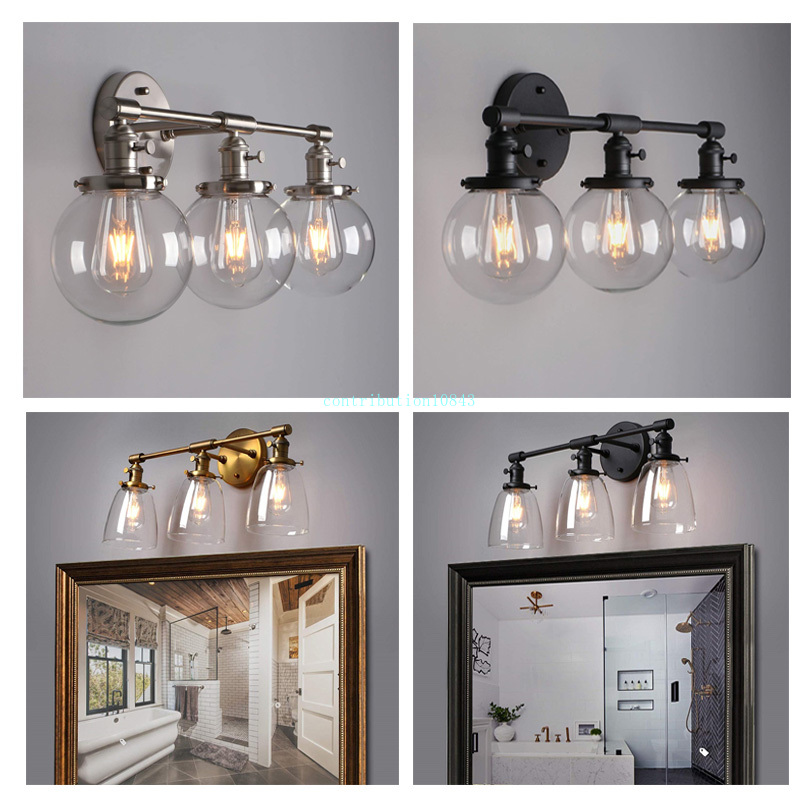 Nordic Modern Bedroom Wall Lamps Stair Living Room Decoration Wall Light Glass Three Ball Heads Vintage Indoor Lighting Fixtures