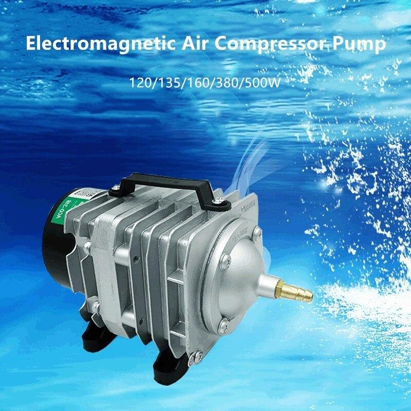 120W/135W/160W/380W/500W Electromagnetic Air Compressor Pump Oxygen  Aquarium Fish Pond Compressor Hydroponic Air Aerator Pump - Mega Offer  #F9DF | Cicig