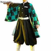 Dämon Slayer: Kimetsu keine Yaiba Kamado Tanjirou Agatsuma Zenitsu Tomioka Giyuu Kamado Nezuko Kimono Uniformen Perücken Cosplay Kostüm