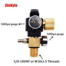 Regulator Tank-Pin-Valve HPA PCP Paintball Pressure-0-3000psi 300bar 5/8-18unf Air-Gun