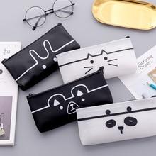 Stationery Pencil-Case Kawaii School-Tools Gift Cute PU Rabbit Quality