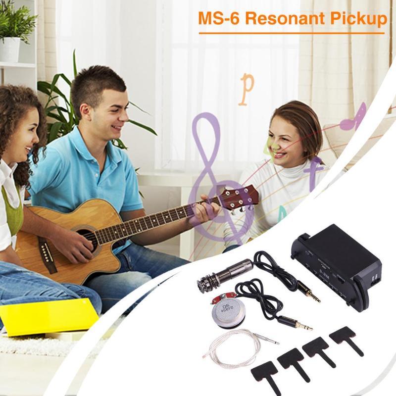 1pc offre spéciale guitare résonance pick-up coque plastique multi-fonctionnelle guitare acoustique résonance pick-up amplificateur pour pièces de guitare