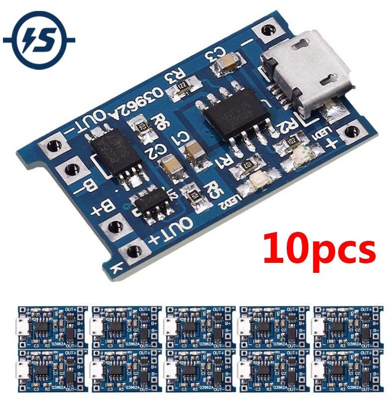 TP4056 TENSTAR робот зарядное устройство Модуль + USB Micro 18650 литиевая батарея Защитная плата 2,6*1,7 см 5 в 1A 10 шт./лот