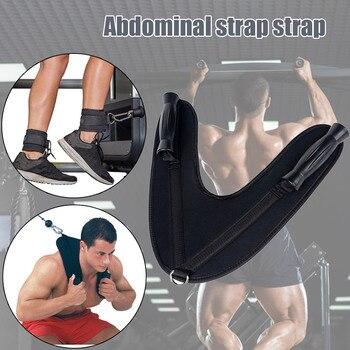Hot Abdominal Strap Ab Straps Sports Equipment cb5feb1b7314637725a2e7: Black
