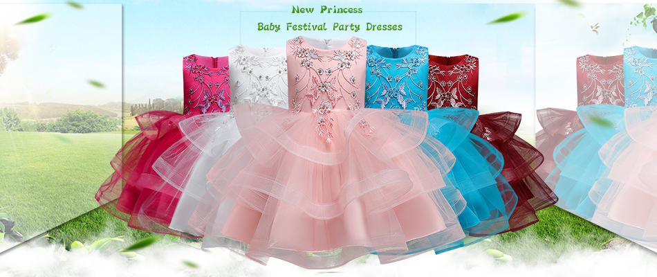 Hf13b54147edb437897683ac3d50c10807 1-14 yrs teenagers Girls Dress Wedding Party Princess Christmas Dresse for girl Party Costume Kids Cotton Party girls Clothing