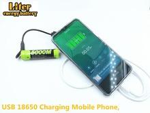 노트북 배터리 4PCS 4 LED 표시기 USB 5000M 18650 3.7V 3500mAh 충전 배터리 지능형 리튬 이온 충전지