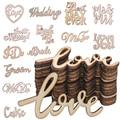 15 шт. деревянные буквы любовь свадьба только что замужем мистер миссис деревянные Ломтики для вечеринки в честь Дня Рождения Декор для стол...