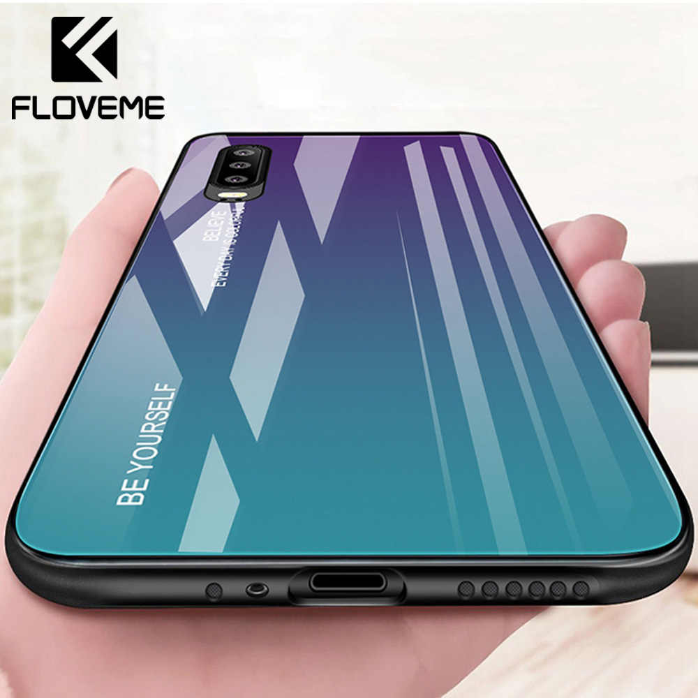 FLOVEME Case For HUAWEI Tempered Glass Case For Huawei P10 P20 P30 Lite Pro Plus Cover For HUAWEI Mate 10 20 Lite Pro Honor 8X