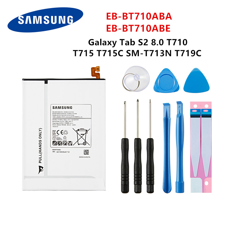 SAMSUNG Orginal Tablet EB-BT710ABA EB-BT710ABE 4000mAh Battery For Samsung Galaxy Tab S2 8.0 SM-T710 T713 T715 T719C T713N+Tools