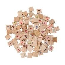 200x деревянные плитки буквы для игры скраббл s ремесла буквы алфавита деревянный скрэббл букв коробки