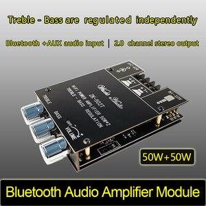 Image 2 - דיגיטלי TPA3116D2 Bluetooth 5.0 סאב מגבר לוח 2.0 ערוץ כוח אודיו סטריאו מגבר לוח 2*50W בס AMP ZK 502T