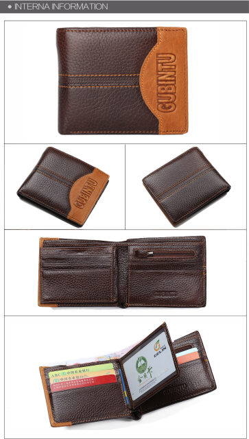 Hf13bb570489a4a32a8d081dbbc6fc850N - GUBINTU Genuine Leather Men Wallets Coin Pocket Zipper Real Men's Leather Wallet with Coin High Quality Male Purse cartera