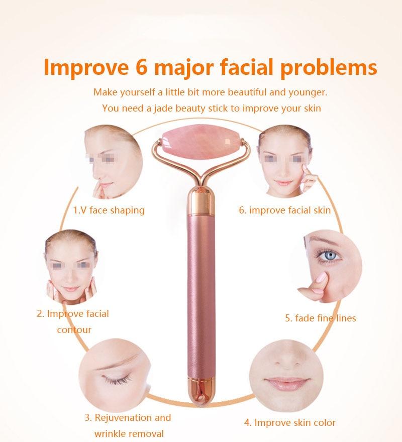 Rose Quartz Facial Massager