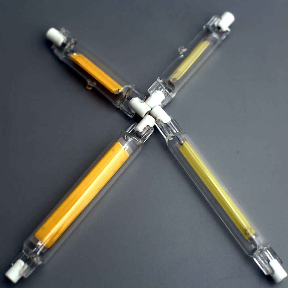 Dimmable R7s LED J78 J118 7W 12W 15W 25W COB ampoules en céramique Tube de verre Ampoule de remplacement 70-200W halogène Bombillas lumières