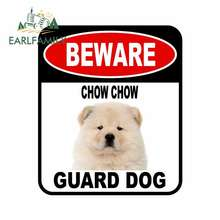 Pet-Dog-Decal Chow-Guard BEWARE Car-Sticker-Cover EARLFAMILY 13cm-X-11cm Composite-Sign
