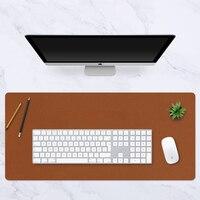 Alfombrilla de ratón grande portátil de doble cara, tapete de escritorio de ante de cuero impermeable, alfombra para ratón teclado antideslizante para ordenador portátil