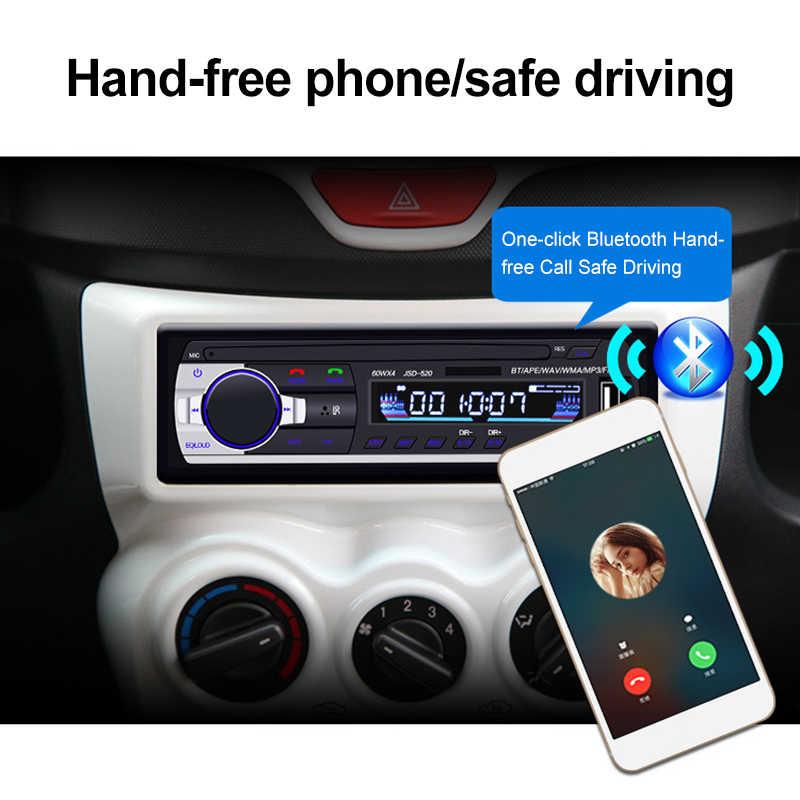 Mobil Multimedia Player Bluetooth Auto Radio MP3 Musik Player Mobil Stereo Radio FM AUX Input Receiver USB 12V Di dash 1 Din