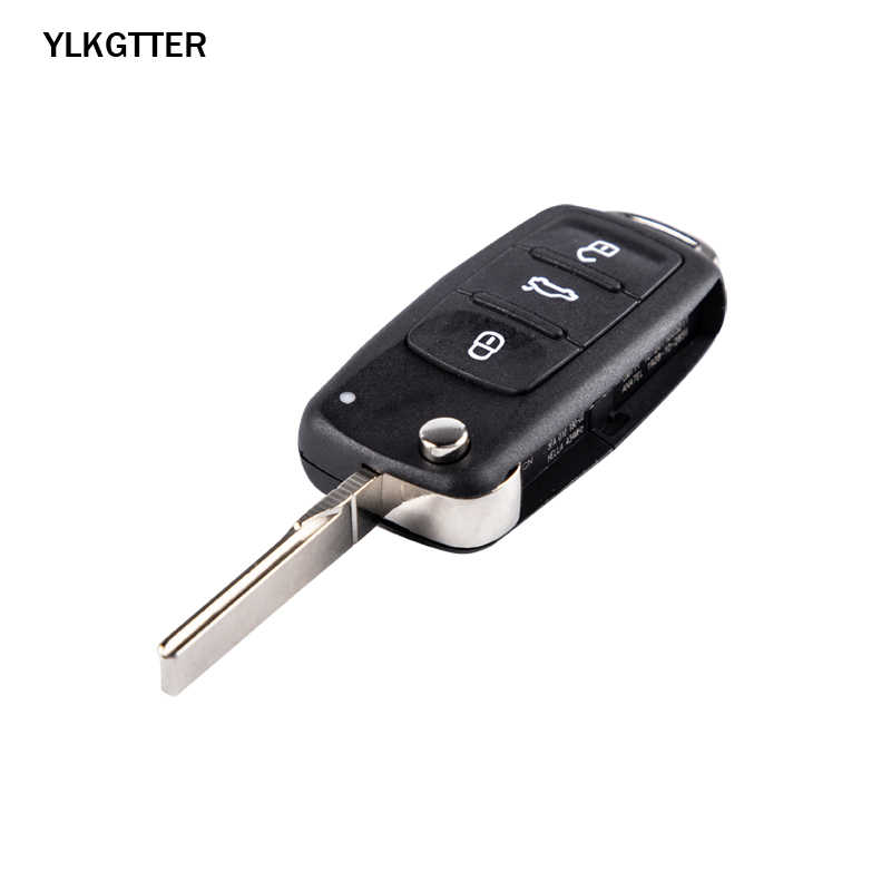 Ylkgtter 434 mhz chave remota apto para vw/volkswagen caddy eos golf beetle polo up tiguan touran com chip id48 5k0837202ad