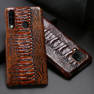 Image 1 - Leather Phone Case For Huawei Honor 30 30S X10 20 20i 10 10i 9 8 Lite 9X 8X Max 7X 7A V30 Pro V20 V10 Ostrich Foot Texture Cover