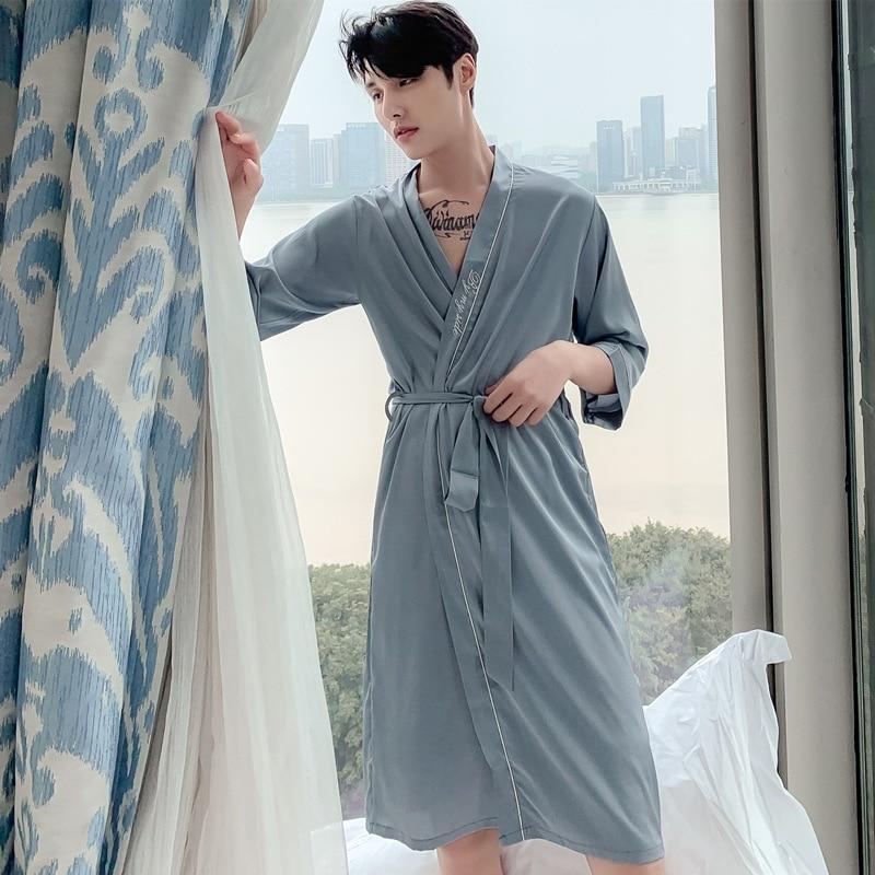 Man 2pcs Pajama Pyjamas Nightie Sleepwear Couples Pajama Sexy Lace Silk Fabric Kimono Hombre Robe Shorts Set