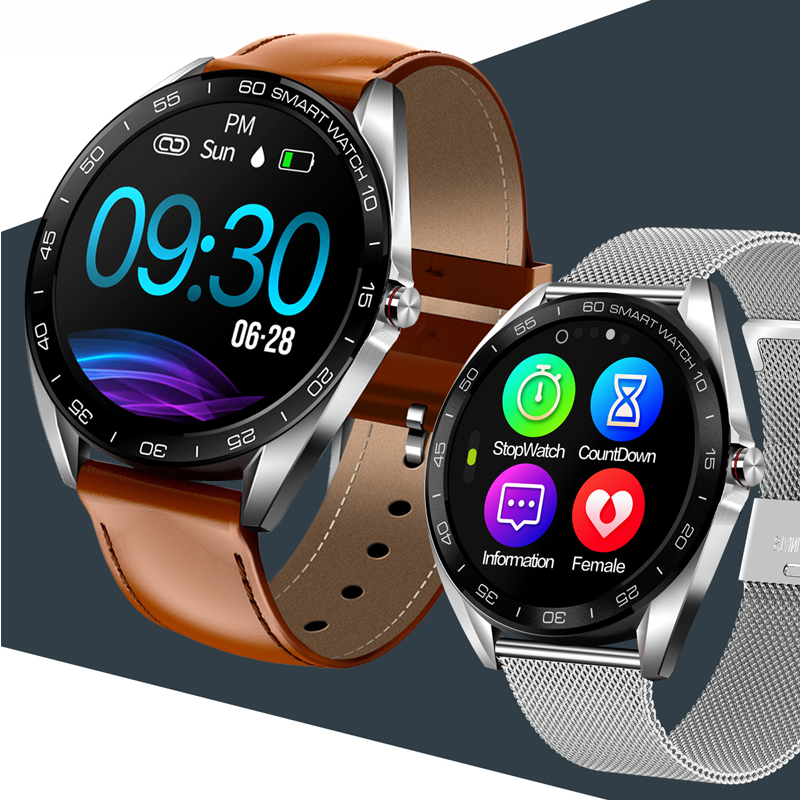"HETNGSYOU K7 IP68 Waterproof Smart Watch 1.3"" Full Touch Round Screen Heart Rate Sleep Monitor Sport Smartwatch Fitness Tracker"