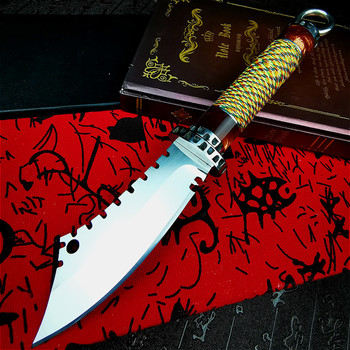 PEGASI  Outdoor forged knife self-defense knife high carbon steel short knife high hardness survival knife straight knife damascus steel outdoor tactical straight knife boutique collection knife high hardness self defense straight knife