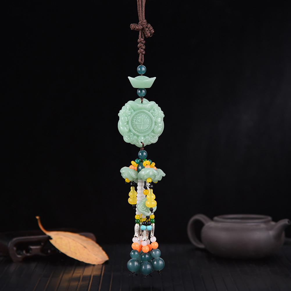 Image 4 - Car Pendant Jade Gourd Auto Hanging Ornaments Originality Blessing Decoration Rearview Mirror Car Interior Accessories-in Ornaments from Automobiles & Motorcycles