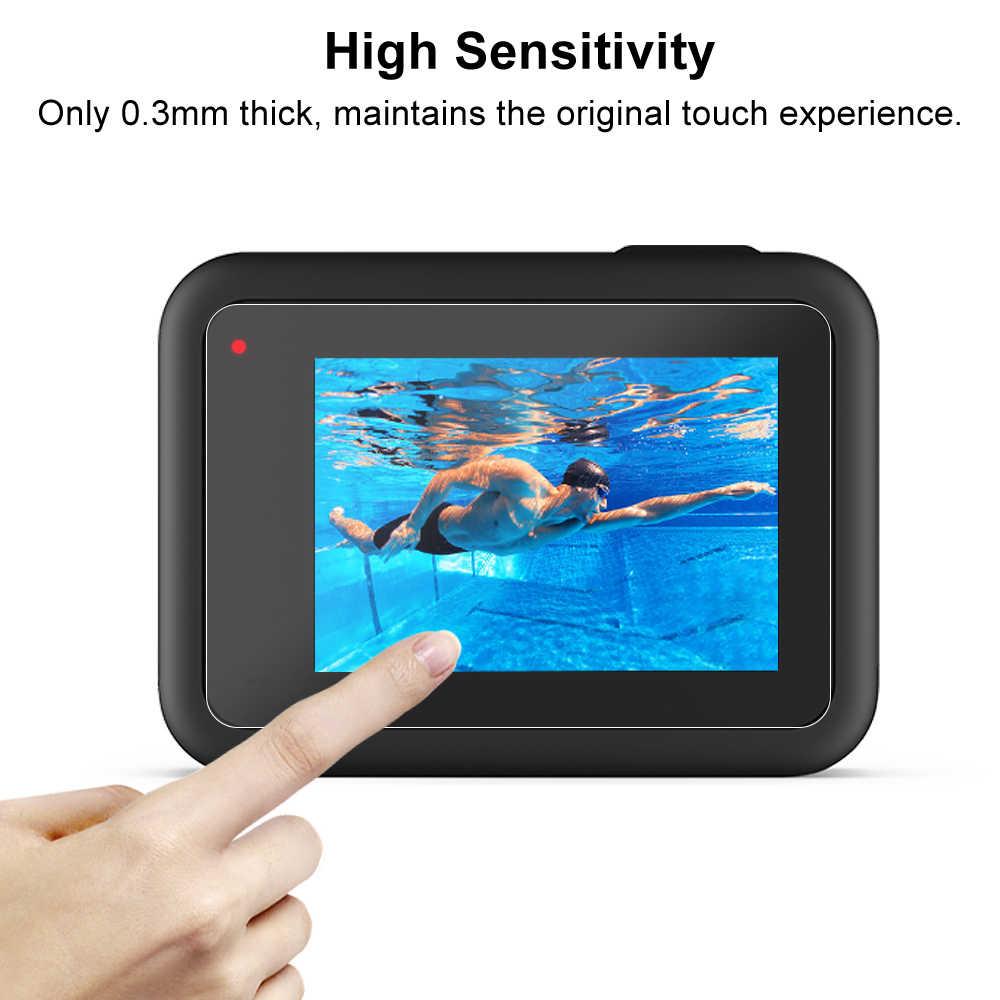 Protecteur d'écran en verre trempé pour GoPro Hero 8 Film de Protection d'objectif noir pour accessoires de caméra Gopro8 Go pro 8