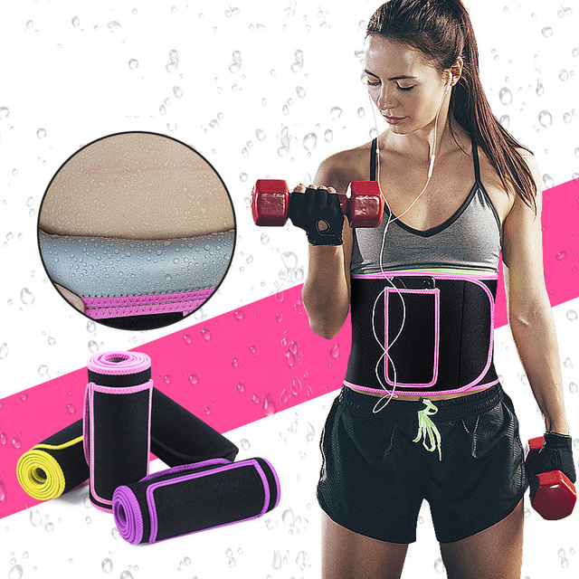 Adjustable Elastic Sports belt Lumbar Pressurize shaped sweat-absorbent body abdomen yoga weightlifting protective gear Brace