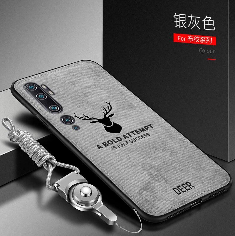 Чехол для Xiaomi Mi Note 10 Pro, роскошный мягкий силиконовый + жесткий тканевый защитный чехол-накладка с оленем, котом для xiaomi mi CC9 Pro cc9pro