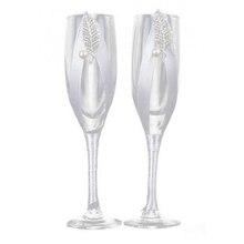 CSS 2 шт./компл. креативный подарок свадебный и жених Шампань флейты Свадебные очки набор чашка Обжарка Кубок для свадьбы Вечерние