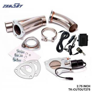 Electric Exhaust DUMPS Cutout Stainless Steel Cutouts 2.75 inch+Piping+Switch For Mustang GT V8/05-10 GT500 TK-CUTOUT275