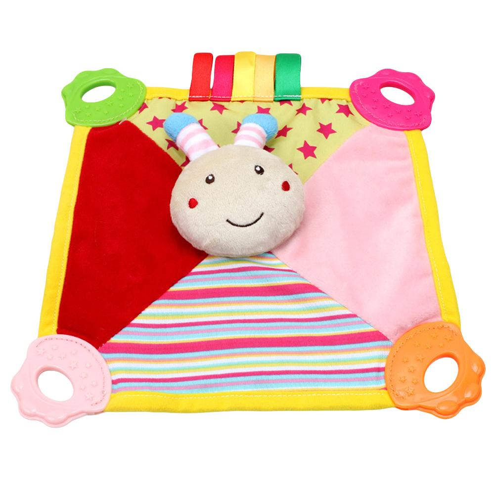 Baby Cartoon Animal Pattern Comforting Towel For 0-1 Year Old Bite Resistant Vocal Comforting Doll Vocal Ball Soothes Doll