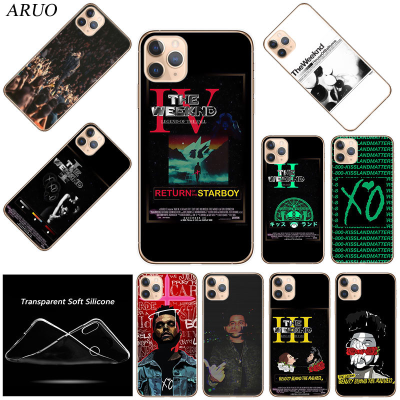ARUO for Funda iPhone 11 Pro Case 5S 6 6S 7 8 Plus X XS Max The Weeknd for  Cover iPhone SE2020 Case Soft TPU for iPhone XR Case|علب جاهزة| - AliExpress