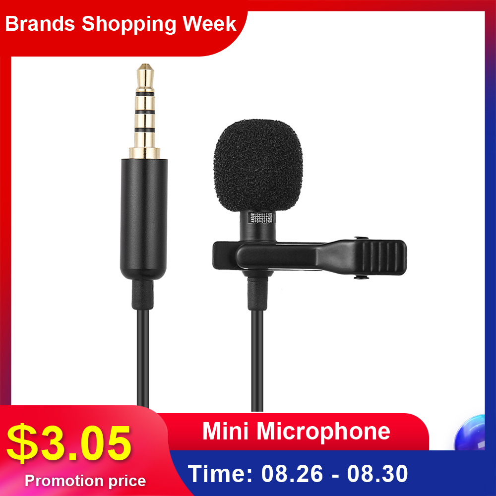 Andoer Lavalier Mic Microphone-Condenser Laptop Lapel Mini Clip-On Portable Mikrofo/microfon