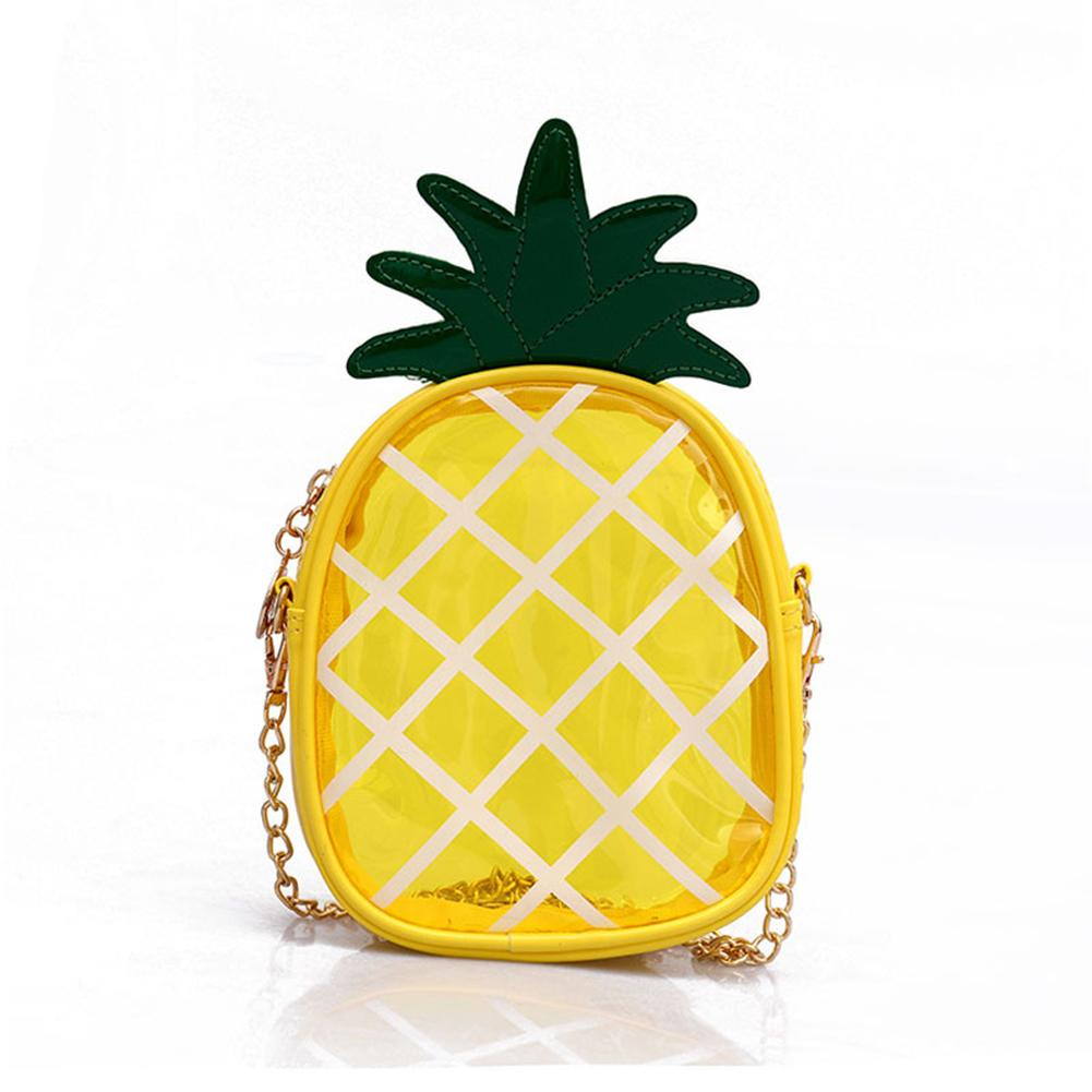 Small Bag Transparent Jelly Package Cute Pineapple Shape Chain Convenient Messenger For Female