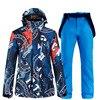 2021 New Mens Ski Suit Super Warm Waterproof Windproof Snowboard Jacket Pants Winter Snow Suits Male Skiing Snowboarding Sets
