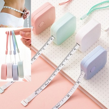 150cm/60 Tape Measure Portable Retractable Ruler Children Height Ruler Centimeter Inch Roll Tape Girls Gifts Random Color #5 image