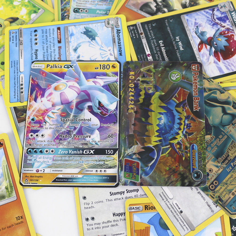 42pcs/set Shining Pokemon VIP Cards For Children Toy Collections Card Bling Bling Metal Boxed Flash Card