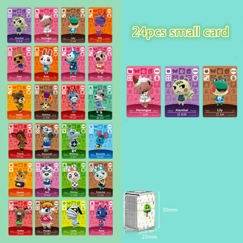 24pcs/lot Animal Crossing Card Amiibo 264 Marshal Mini NFC Card For Nintendo Switch NS Games Series 1 2 3 4