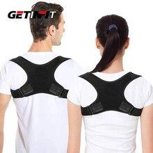 Getinfit um corretor de postura coluna volta ombro suporte corrector banda ajustável correção cinta jubarte volta alívio da dor