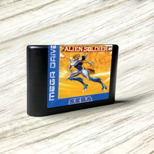 Alien asker EUR etiket Flashkit MD akımsız altın PCB kartı Sega Genesis için Megadrive Video oyunu konsolu
